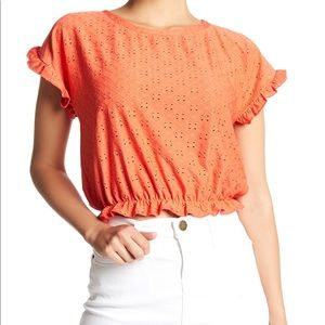 Tops - Hiatus Eyelet Embroidered Crop Top